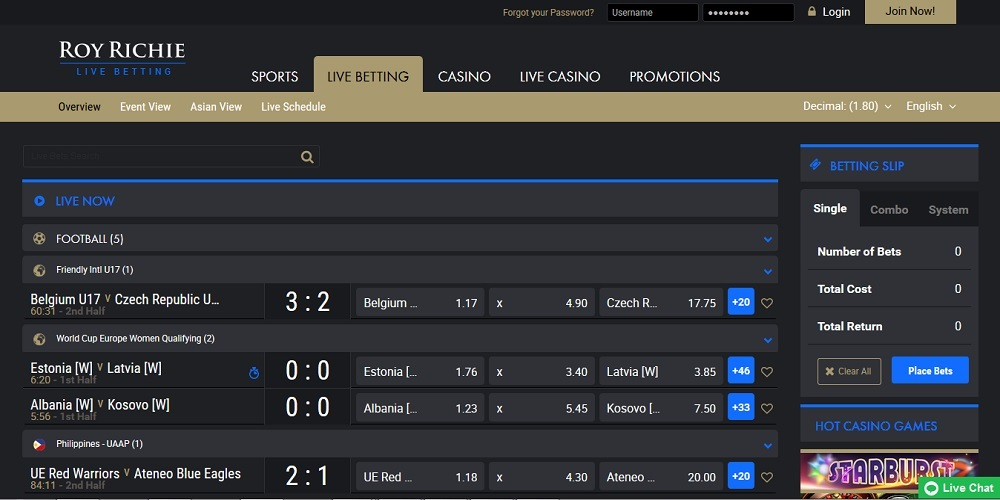 Review Of Roy Richie Sportsbook